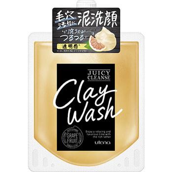"""Utena """"Juicy Cleanse"""" Пенящийся скраб для лица из глины, с аргановым маслом и экстрактом грейпфрута, 110 гр."""