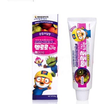 """KM """"Pororo"""" Зубная паста для детей от 3 лет с пониженным содержанием фтора, со вкусом микса фруктов, 90 гр."""