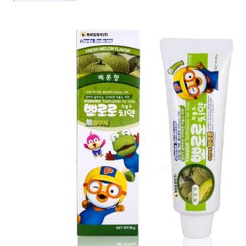 """KM """"Pororo"""" Зубная паста для детей от 3 лет с пониженным содержанием фтора, со вкусом дыни, 90 гр."""