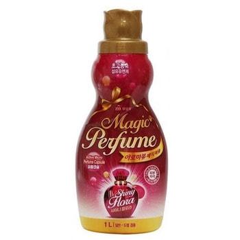 """Mukunghwa """"Aroma Viu Magic Perfume Softner Shiny Flora"""" Кондиционер-ополаскиватель для белья и одежды, с богатым ароматом персика и розы, 1 л."""