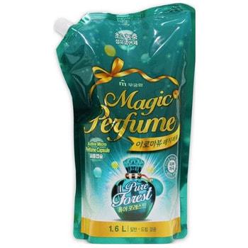 """Mukunghwa """"Aroma Viu Magic Perfume Softner Pure Forest"""" Кондиционер-ополаскиватель для белья и одежды, с кристальным ароматом летнего леса, 1,6 л."""