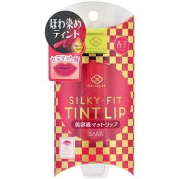 """Sana """"Maikohan liquid matte lip 03"""" Жидкий полуматовый тинт для губ, тон 03, красный апельсин. (фото)"""