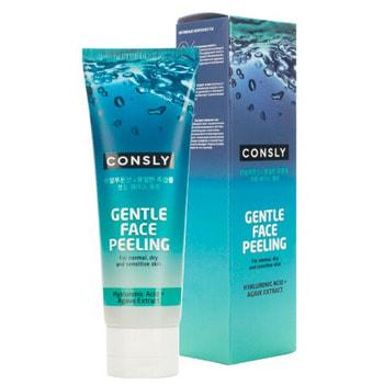 """Consly """"Gentle Face Peeling with Hyaluronic Acid and Agave"""" Отшелушивающий гель для деликатного очищения, 120 мл."""