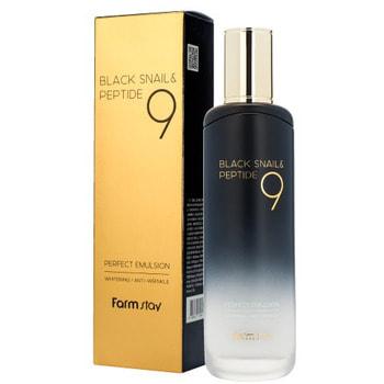 "FarmStay ""Black Snail & Peptide 9 Perfect Emulsion"" Омолаживающая эмульсия с комплексом из 9 пептидов, 120 мл."