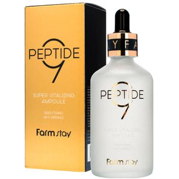 "FarmStay ""Peptide 9 Super Vitalizing Ampoule"" Суперобновляющая ампульная сыворотка с комплексом из 9 пептидов, 100 мл."