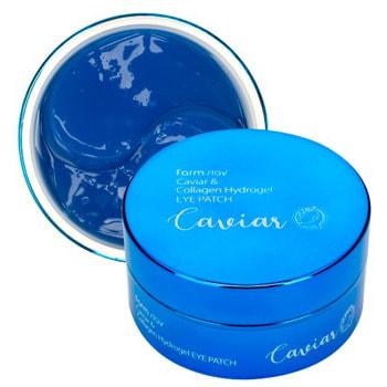 """FarmStay """"Caviar & Collagen Hydrogel Eye Patch"""" Гидрогелевые патчи для области вокруг глаз с икрой и коллагеном, 60 шт."""