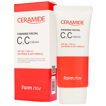 "FarmStay ""Ceramide Firming Facial CC Cream"" Укрепляющий СС крем с керамидами, 50 гр."