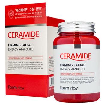 """FarmStay """"Ceramide Firming Facial Energy Ampoule"""" Многофункциональная ампульная сыворотка с керамидами, 250 мл."""