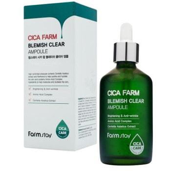 """FarmStay """"Cica Farm Blemish Clear Ampoule"""" Высокоактивная ампульная эссенция с центеллой азиатской против несовершенств кожи, 100 мл."""