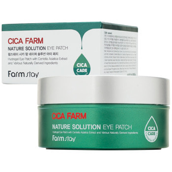 "FarmStay ""Cica Farm Nature Solution Eye Patch"" Гидрогелевые восстанавливающие патчи для области вокруг глаз с центеллой азиатской, 60 шт."