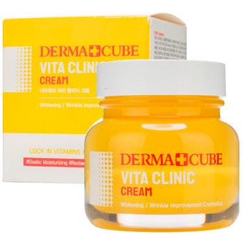 """FarmStay """"Derma cube Vita Clinic Cream"""" Крем для молодости и сияния кожи, 60 мл."""