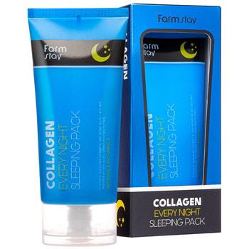"FarmStay ""Collagen Every Night Sleeping Pack"" Ночная маска с коллагеном, 120 мл."