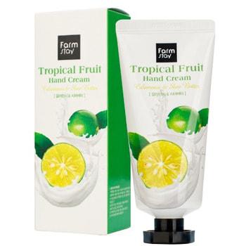 """FarmStay """"Tropical Fruit Hand Cream Calamansi & Shea Butter"""" Крем для рук """"Тропические фрукты"""" с экстрактом каламанси и маслом ши, 50 мл."""