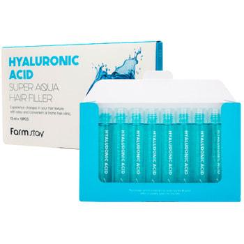 "FarmStay ""Hyaluronic Acid Super Aqua Hair Filler"" Суперувлажняющий филлер для волос с гиалуроновой кислотой, 13 мл * 10 шт."