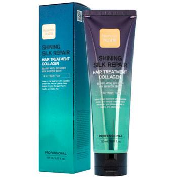"FarmStay ""Shining Silk Repair Hair Treatment Collagen"" Увлажняющая сыворотка для сияния и блеска волос с коллагеном, 150 мл."
