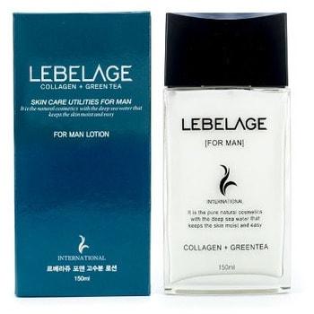 """Lebelage """"Collagen+Green Tea For Men Lotion"""" Увлажняющий лосьон для мужчин с коллагеном и зеленым чаем, 150 мл."""