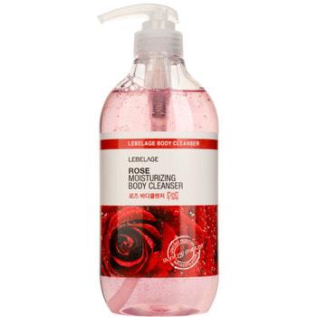 "Lebelage ""Rose Moisturizing Body Cleanser"" Расслабляющий гель для душа с экстрактом розы, 500 мл."
