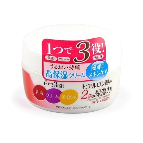 MEISHOKU Meishoku Emolient Extra Cream Увлажняющий крем c церамидами и коллагеном, 110 гр.УВЛАЖНЕНИЕ И ПИТАНИЕ КОЖИ<br>Глубокоувлажняющий крем-гель совмещает действие эссенции и крема, предотвращает сухость, поддерживает оптимальный уровень влаги в клетках кожи. Крем увлажняет, придаёт упругость и эластичность, улучшает цвет лица.  <br> Активные компоненты: Lipidure (поликватерниум-51) - восстанавливающий текстуру кожи компонент, по интенсивности увлажнения в 2 раза превышающий увлажняющие свойства гиалуроновой кислоты. Микроколлаген глубоко проникая в верхние слои клеток эпидермиса, поддерживает оптимальный уровень влаги в клетках кожи, повышая упругость и эластичность.  Микроцерамиды образуют липидный барьерный слой, увеличивают уровень увлажнения, препятствуют обезвоживанию.  Экстракт-вытяжка из стебля акебии пятерной - увлажняющий растительный экстракт.  <br> Не содержит искусственных красителей, имеет слабую кислотность, с едва уловимым ароматом (не содержит сильных парфюмерных отдушек)   Способ применения: нанесите на кожу лица после применения лосьона. Используйте крем как дневной или ночной, а также как основу под макияж.   Состав: вода, глицерин, BG, изопропила пальмитат, экстракт-вытяжка из стебля акебии пятерной, токотриэнол, поликватерниум-51 (lipidure), атероколлаген, гидролизированный коллаген, сфинголипиды, токоферол, масло рисовых отрубей, гидроксипропилтримониум мёд, хитозан, циклодекстрин, декстрин, карбомеры, октилдодеканол, гидрогенизированное пальмовое масло, стеарат PEG-5 глицерил, стеарат полиглицерил-10, пальмитоилпентапептид-4, полисорбет 20, фенилтриметикон, PEG-40 гидрогенизированное касторовое масло, гидроксид натрия, полиакрилат натрия, EDTA-2Na, метилпарабен, пропилпарабен, парфюмерная отдушка.<br>