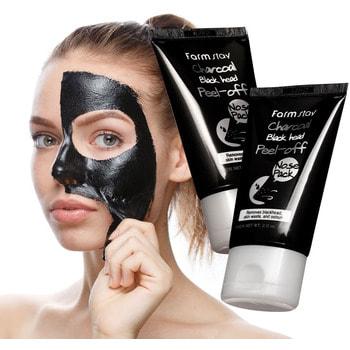 """FarmStay """"Charcoal Black Head Peel-off Nose Pack"""" Маска-пленка с углем для носа, 60 гр. (фото)"""