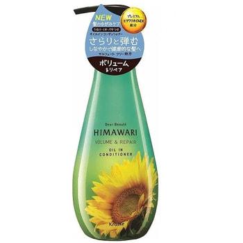 """Kracie """"Dear Beaute"""" Бальзам-ополаскиватель для придания объема поврежденным волосам, с растительным комплексом Himawari Oil Premium EX, 500 мл."""