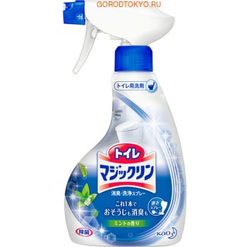 KAO Спрей-пенка для туалета Toilet Magiclean с мятным ароматом, 400 мл. спрей пенка для чистки пола kao glass magiclean с лесным ароматом 400 мл
