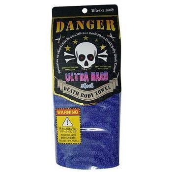 "Yokozuna ""Death Body Towel"" Массажная мочалка ультражесткая, синяя, размер 29х100 см."