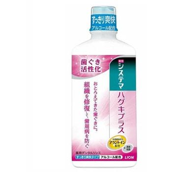 """Lion """"Systema Gums Plus"""" Ежедневный защищающий ополаскиватель полости рта с активизирующим эффектом, спиртосодержащий, 450 мл."""