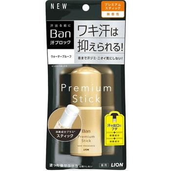 """Lion """"Ban Premium Gold Label"""" Премиальный твердый стик дезодорант-антиперспирант роликовый, ионный, блокирующий потоотделение, без запаха, 20 г."""