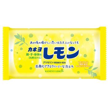 """Kaneyo """"Lemon"""" Душистое туалетное мыло для лица и тела, с маслом лимона, кусок, 45 г. х 3 шт."""