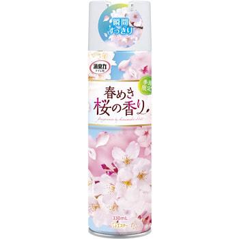 """ST """"Shoshu Riki"""" Освежитель воздуха для туалета, аэрозоль, с антибактериальным эффектом """"Сакура"""", 330 мл."""