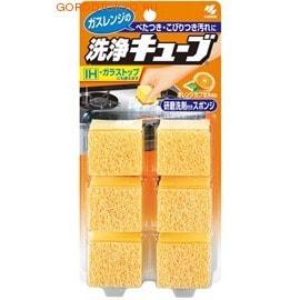 """KOBAYASHI Очищающая губка """"Cleaning Cube"""" с апельсиновым маслом для удаления загрязнений, 6 шт."""