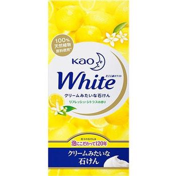 """KAO """"White Refresh Citrus"""" Кусковое крем-мыло с освежающим ароматом цитрусовых, 6 шт. х 85 гр."""