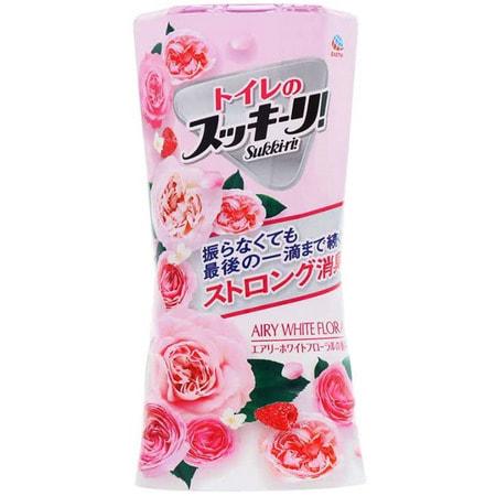 "Earth Biochemical ""Sukki-ri!"" Жидкий дезодорант-ароматизатор для туалета, с цветочным ароматом, ""Белые цветы"", 400 мл. (фото)"