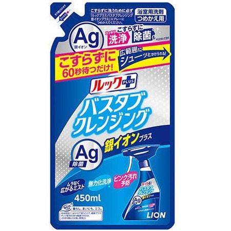 """Lion """"Look Plus"""" Чистящее средство для ванной комнаты быстрого действия, аромат трав и мяты + ионы серебра, сменная упаковка, 450 мл. (фото)"""
