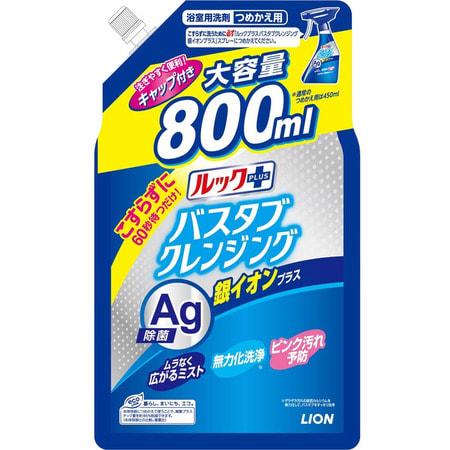 """Lion """"Look Plus"""" Чистящее средство для ванной комнаты быстрого действия, аромат трав и мяты + ионы серебра, сменная упаковка, 800 мл. (фото)"""