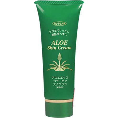 """To-Plan """"Aloe Skin Cream"""" Крем для лица с экстрактом алоэ, с коллагеном и скваланом, 40 гр."""