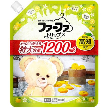 """NS FaFa """"Kochi Yuzu"""" Кондиционер концентрированный для белья, с освежающим ароматом юдзу, мягкая упаковка, 1200 мл."""