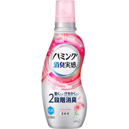 """KAO """"Humming Fine"""" Кондиционер для белья с антибактериальным и дезодорирующим эффектом, с ароматом розы, бутылка, 530 мл. (фото)"""