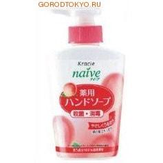 """KRACIE """"Naive"""" Мыло жидкое для рук с экстрактом листьев персикогово дерева, 250 мл."""