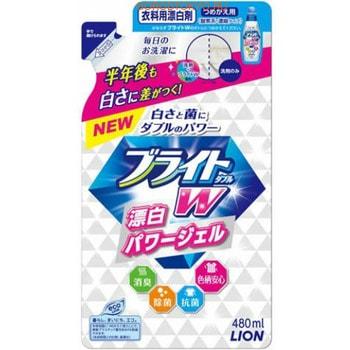 """LION """"Bright W"""" Дезинфицирующий жидкий пятновыводитель для цветного белья """"Яркость Plus"""", сменная упаковка, 480 мл."""