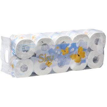 GOTAIYO Sky Трехслойная туалетная бумага с ароматом ментола (в индивидуальной упаковке), 10 рулонов.Туалетная бумага<br>Высшее качество + аромат ментола! <br><br>изготовлена из высококачественной натуральной целлюлозы. <br>не содержит ОВА (флуоресцентных осветителей).<br>первичная обработка бумаги при температуре 450 градусов - гарантия гигиены.<br>
