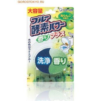 ST Серия «Blue Enzyme Power» - Очищающая и отбеливающая таблетка для бачка унитаза с ферментами окрашивающими воду в светло голубой цвет, 120 гр., аромат яблока.