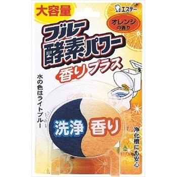 ST Серия «Blue Enzyme Power» - Очищающая и отбеливающая таблетка для бачка унитаза с ферментами окрашивающими воду в светло голубой цвет, 120 гр., аромат апельсина.