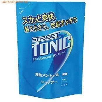 Gyunyu Sekken (COW) 94450 Тонизирующий шампунь с ментолом против перхоти Street TONIC (сменная упаковка), 430 мл.