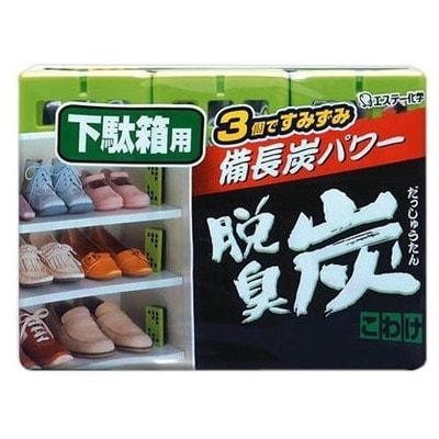 """ST """"Бинчотан"""" Желеобразный дезодорант с древесным углем для обувных ящиков, 3 шт. по 55 гр."""