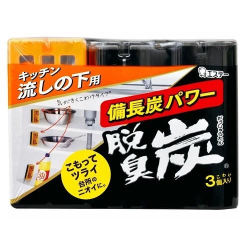 """ST """"Бинчотан"""" Желеобразный дезодорант с древесным углем для кухонных ящиков, 3 шт. по 55 гр."""