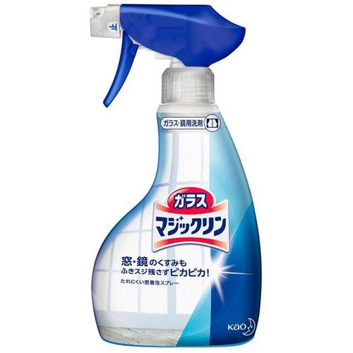 KAO «Glass Magic Clean» Спрей-пенка для мытья стёкол и блестящих поверхностей, лёгкий аромат свежести, 400 мл.
