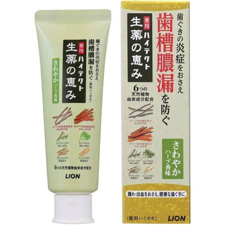 """LION Зубная паста """"HITECH"""" для предотвращения кровоточивости дёсен, 90 гр."""