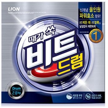 """CJ Lion """"Beat Drum"""" Стиральный порошок-автомат, с пальмовым экстрактом, 2800 гр., коробка."""