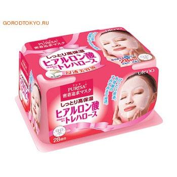 UTENA Маска для лица PURESA Daily HAab с гиалуроновой кислотой увлажняющая, для придания коже упругости, 28 шт.